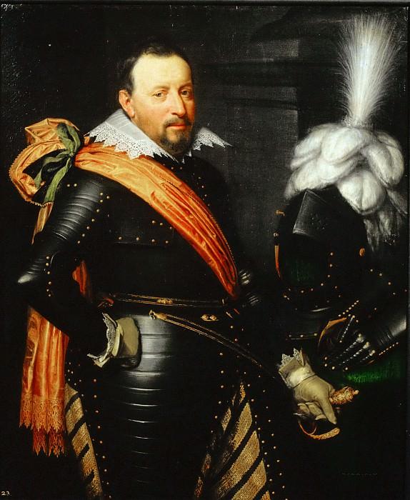 Jan Anthonisz van Ravesteyn (and studio) - Portrait of an Officer, possibly Adolf van Meetkerken (d. 1625). Mauritshuis