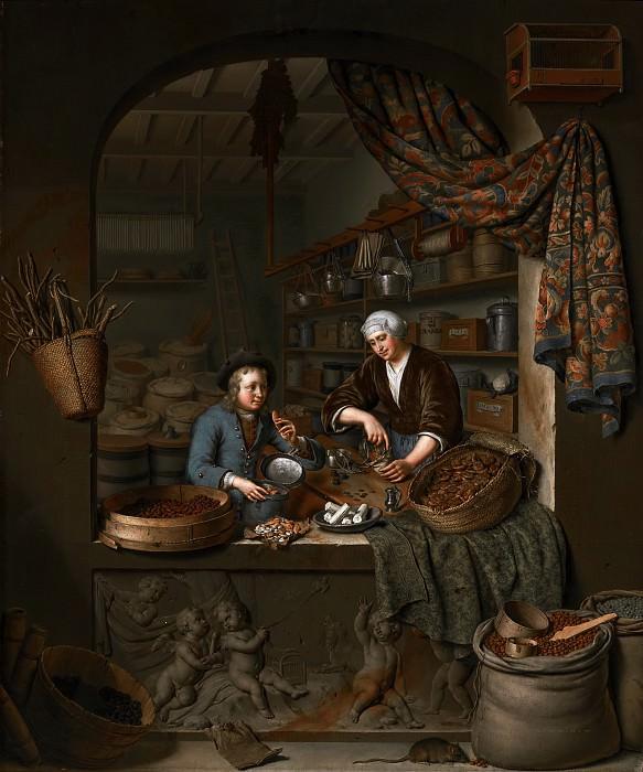 Willem van Mieris - A Grocer's Shop. Mauritshuis
