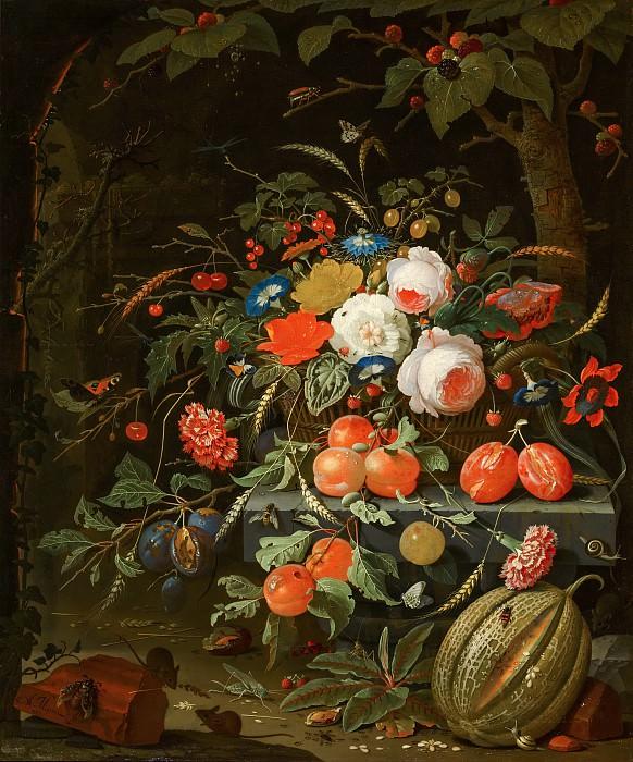 Миньон, Абрахам - Цветы и фрукты. Маурицхёйс
