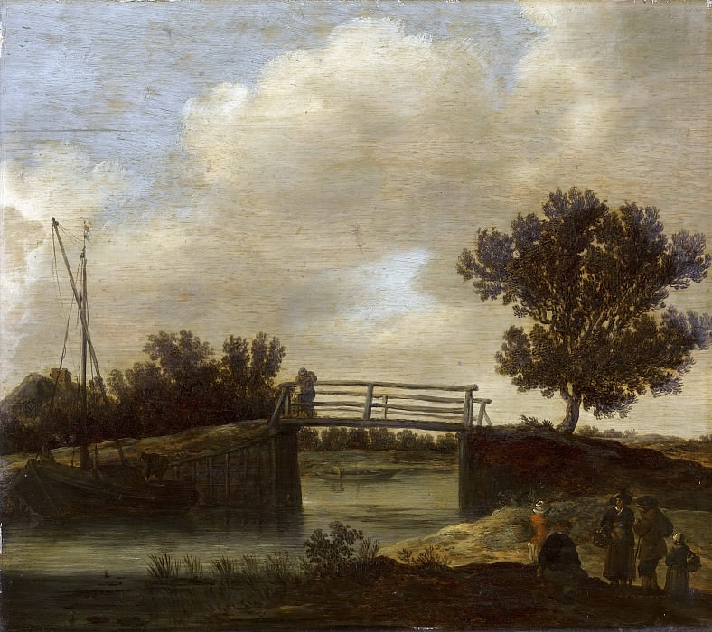 Jan van Goyen (possibly) - Landscape with Bridge, known as 'The Small Bridge'. Mauritshuis