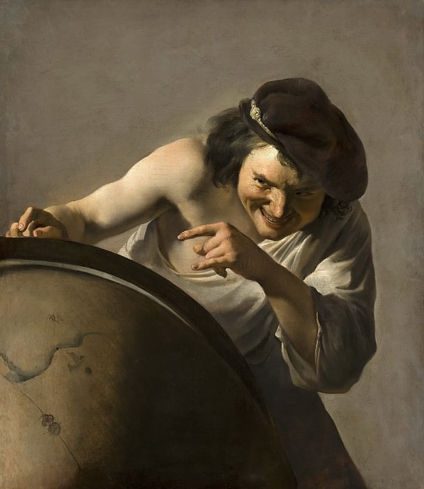 Johannes Moreelse - Democritus, the Laughing Philosopher. Mauritshuis