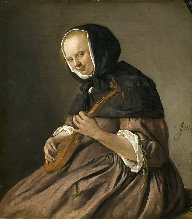 Jan Steen - Woman Playing the Cittern. Mauritshuis