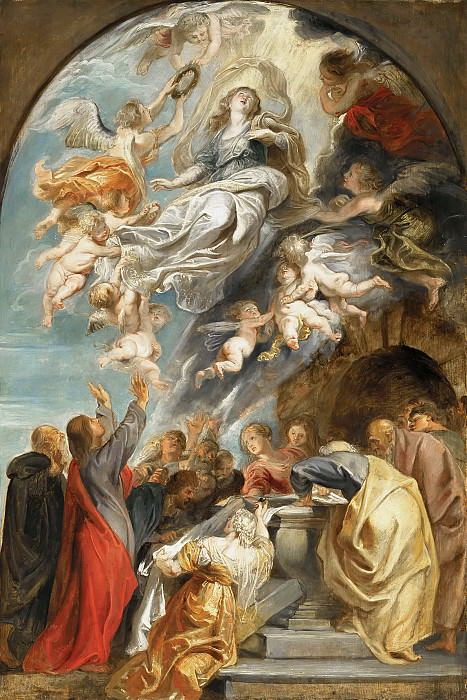 Peter Paul Rubens - 'Modello' for the Assumption of the Virgin. Mauritshuis