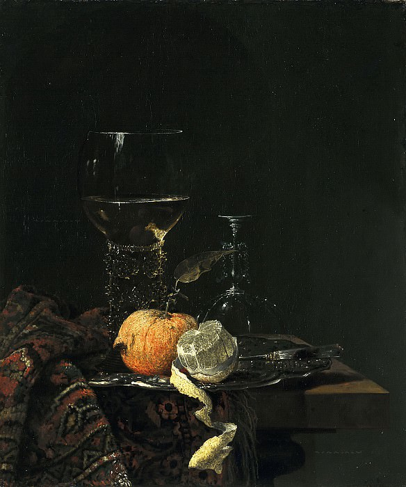 Willem Kalf - Still Llife with a Roemer. Mauritshuis