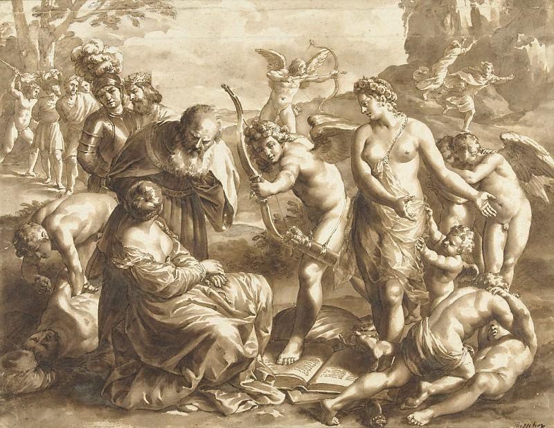 Jan de Bisschop - Allegory on the Power of Venus. Mauritshuis