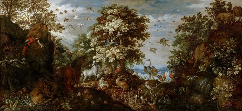 Roelant Savery - Orpheus Charming the Animals with his Music. Mauritshuis