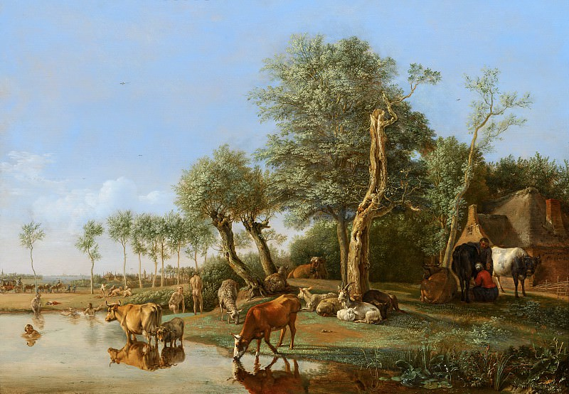Paulus Potter - Cows Reflected in the Water. Mauritshuis