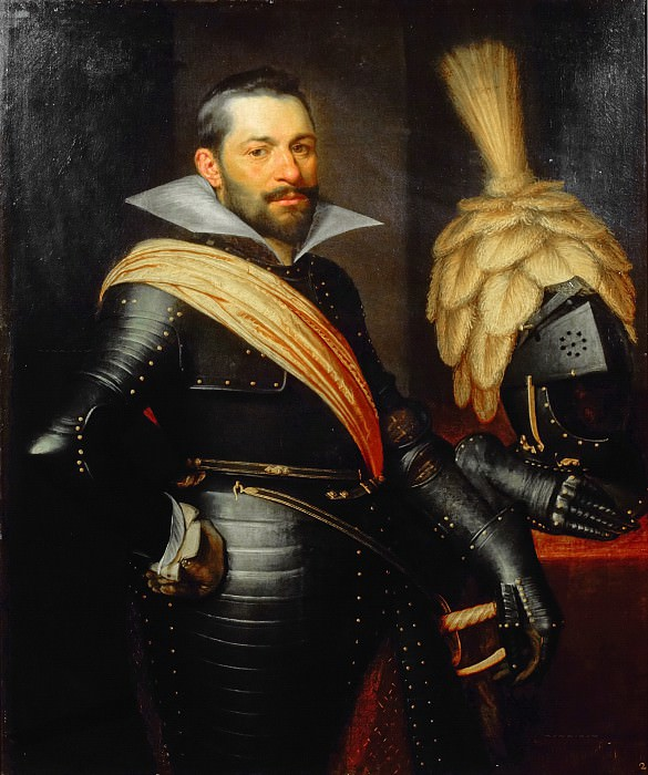 Jan Anthonisz van Ravesteyn (and studio) - Portrait of an Officer, possibly Gaspard de Coligny (1584-1646). Mauritshuis