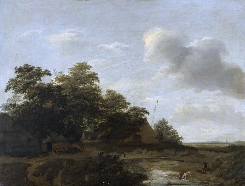 Jan Vermeer van Haarlem - A Farmstead by the Dunes. Mauritshuis