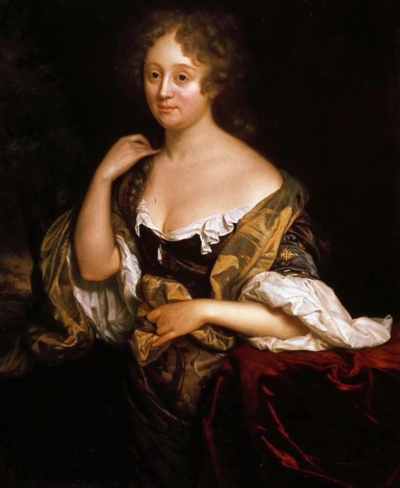 Godfried Schalcken - Portrait of Isabella Agneta Deutz (1658- 1694/96). Mauritshuis