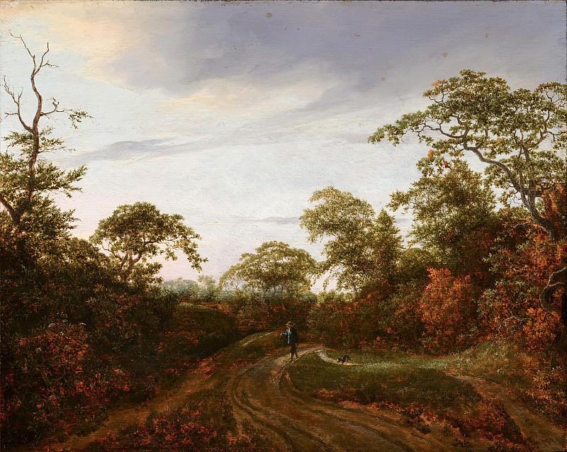Jacob van Ruisdael - Road through a Wooded Landscape. Mauritshuis