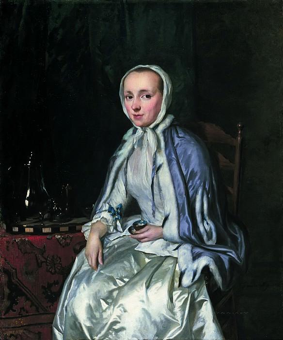 George van der Mijn - Portrait of Elisabeth Troost (1730-1790). Mauritshuis