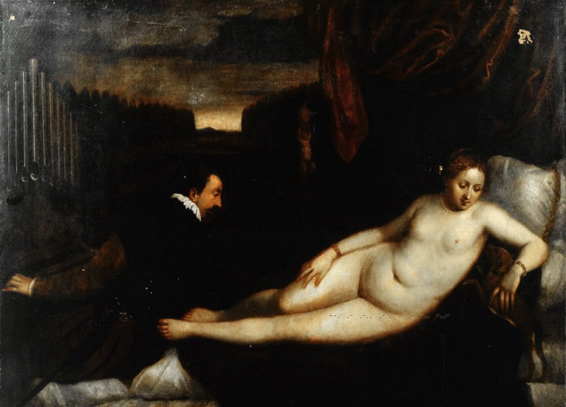 Titian (after) - Venus with an Organist and a Dog. Mauritshuis