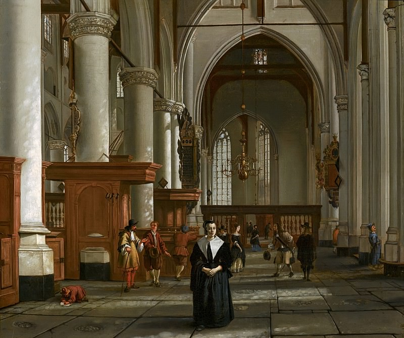 Cornelis de Man - Interior of the Laurenskerk in Rotterdam. Mauritshuis