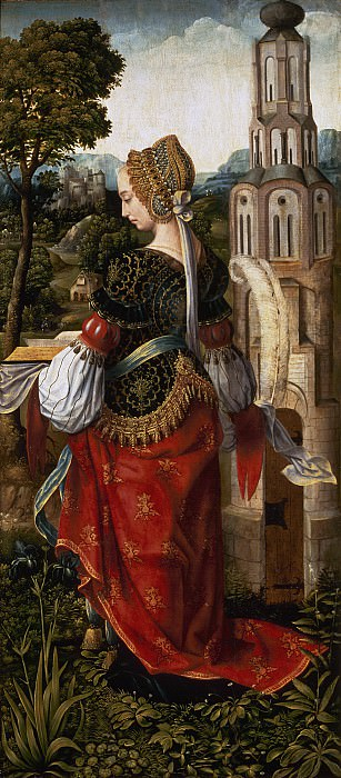 Master of Frankfurt - St Barbara. Mauritshuis