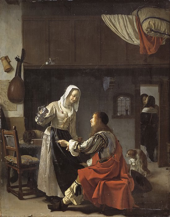 Frans van Mieris the Elder - Brothel Scene. Mauritshuis