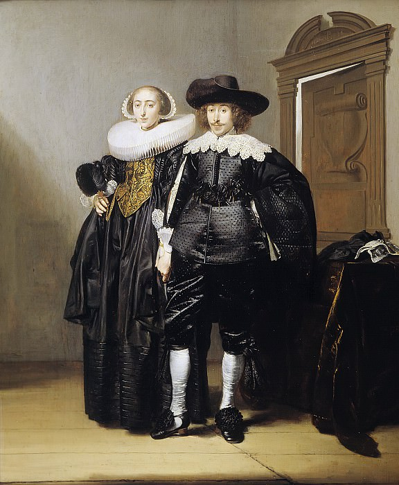 Pieter Codde - Portrait of a Betrothed Couple. Mauritshuis