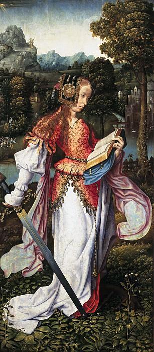 Мастер из Франкфурта - Святая Екатерина. Маурицхёйс