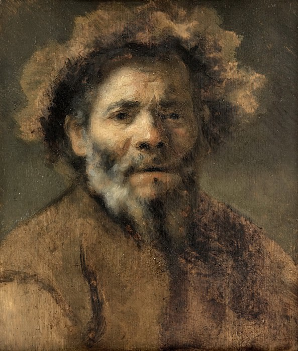 Rembrandt van Rijn (circle of) - Study of an Old Man. Mauritshuis