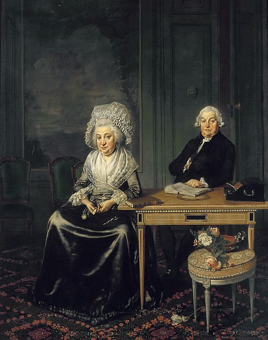 Wybrand Hendriks - Portrait of Jacob Feitama (1726-1797) and his Wife, Elisabeth de Haan (1735-1800). Mauritshuis