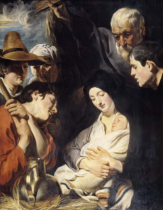 Jacob Jordaens - The Adoration of the Shepherds. Mauritshuis