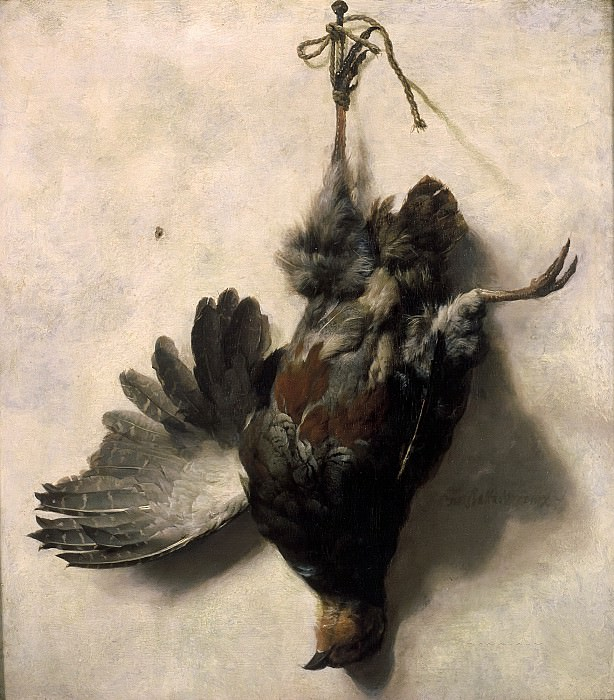 Jan Baptist Weenix - Dead Partridge Hanging from a Nail. Mauritshuis