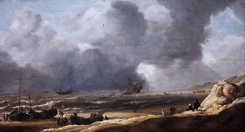 Jan Porcellis - Shipwreck off the Coast. Mauritshuis