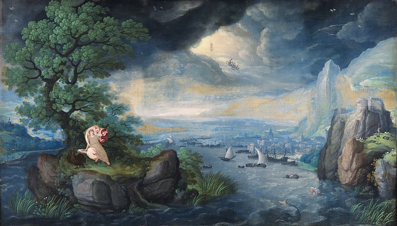 Hans Bol - Imaginary Landscape with St. John on Patmos. Mauritshuis