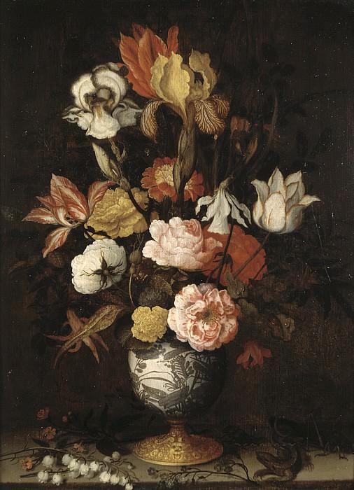 Balthasar van der Ast - Flowers in a Wan-Li Vase. Mauritshuis