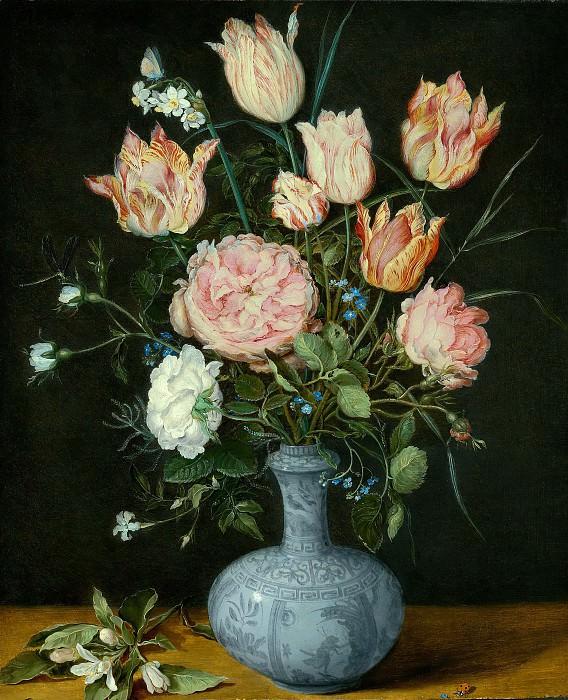 Flowers in a Wan-Li Vase. Jan Brueghel The Elder
