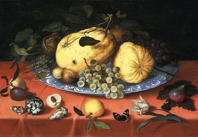 Balthasar van der Ast - Fruit Still Life with Shells and Tulip. Mauritshuis