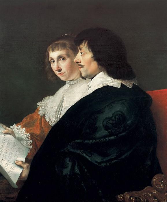 Jacob van Campen - Double Portrait of Constantijn Huygens (1596-1687) and Suzanna van Baerle (1599-1637). Mauritshuis