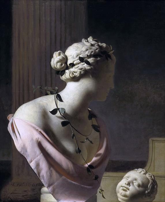 Caesar van Everdingen - Trompe l'Oeil with a Bust of Venus. Mauritshuis