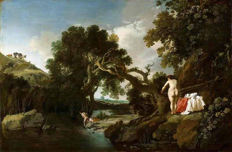 Moyses van Wtenbrouck - Wooded Pool with Salmacis and Hermaphroditus. Mauritshuis
