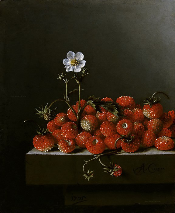 Adriaen Coorte - Still Life with Wild Strawberries. Mauritshuis