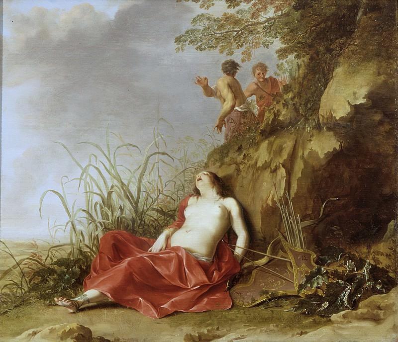 Dirck van der Lisse - A Hunting Nymph, Asleep. Mauritshuis