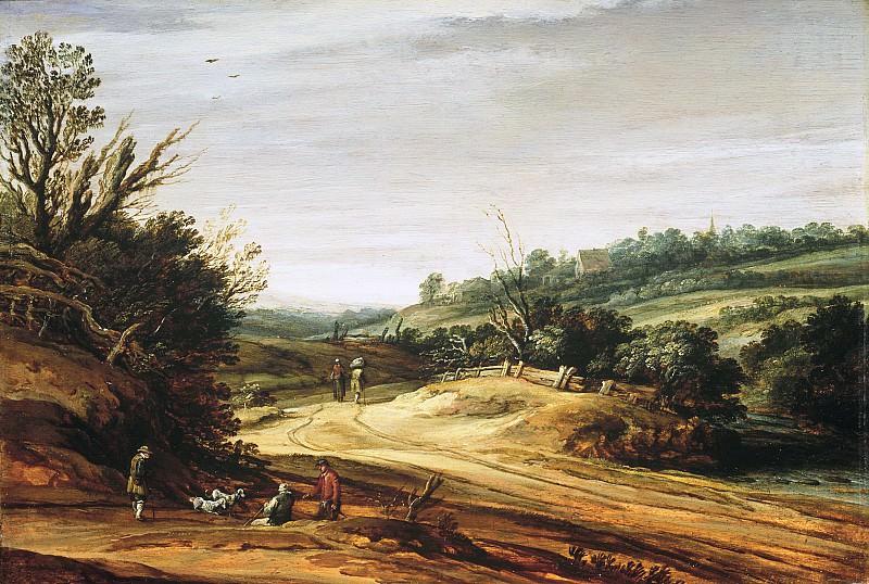 Pieter van Santvoort - Dune Landscape with a Country Road. Mauritshuis