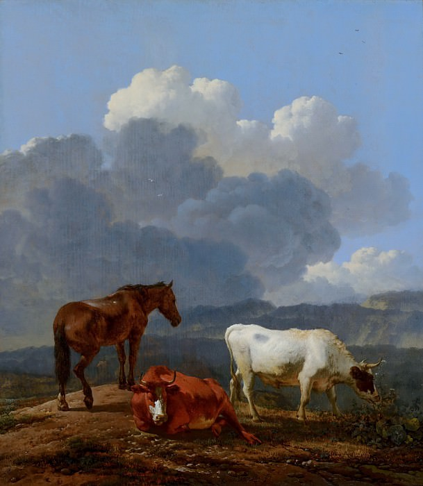 Karel Dujardin - Italianate Landscape with Cattle. Mauritshuis
