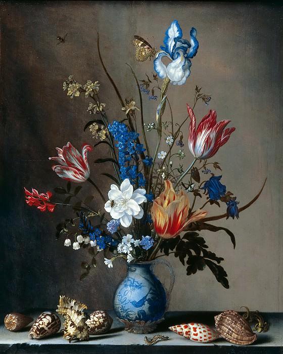 Balthasar van der Ast - Flowers in a Wan-Li Vase, with Shells. Mauritshuis