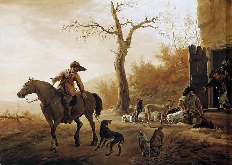 Pieter van Laer - Landscape with Hunters. Mauritshuis
