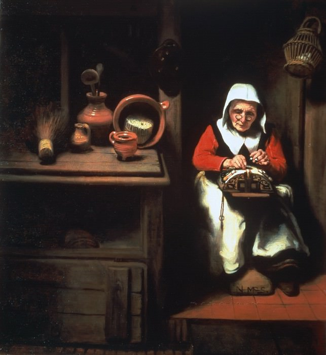 Nicolaes Maes - The Old Lacemaker. Mauritshuis