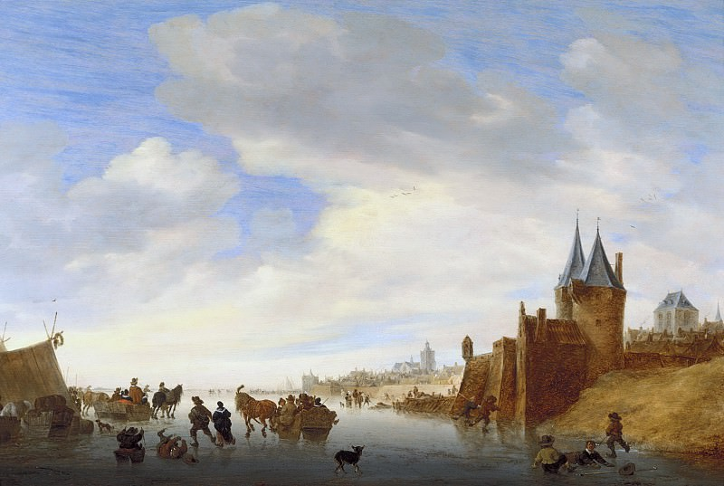 Salomon van Ruysdael - Winter Landscape at Arnhem. Mauritshuis