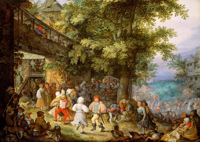 Roelant Savery - Peasants Dancing outside a Bohemian Inn. Mauritshuis
