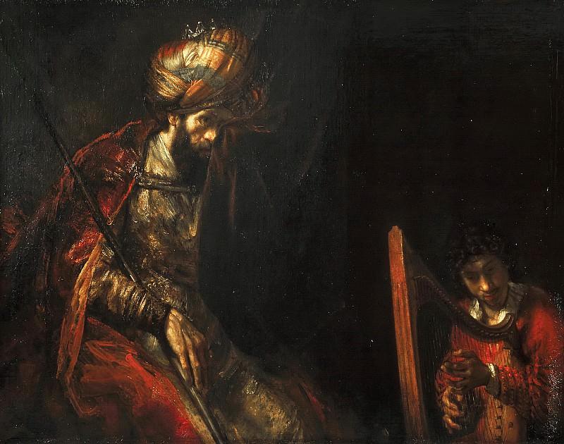 Rembrandt van Rijn (and/or studio) - Saul and David. Mauritshuis