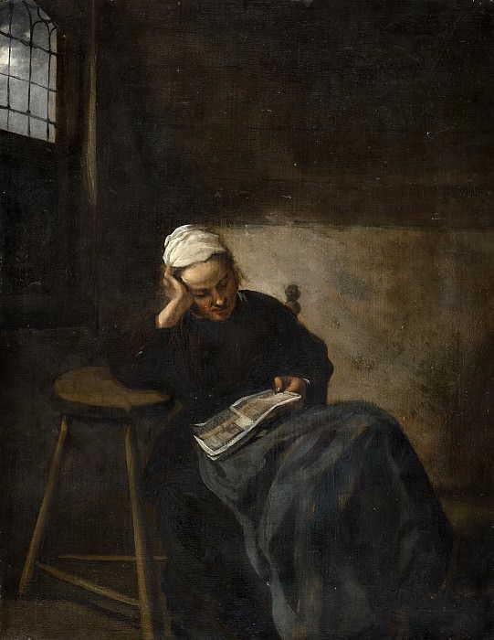 Claes Hals - Girl Reading. Mauritshuis