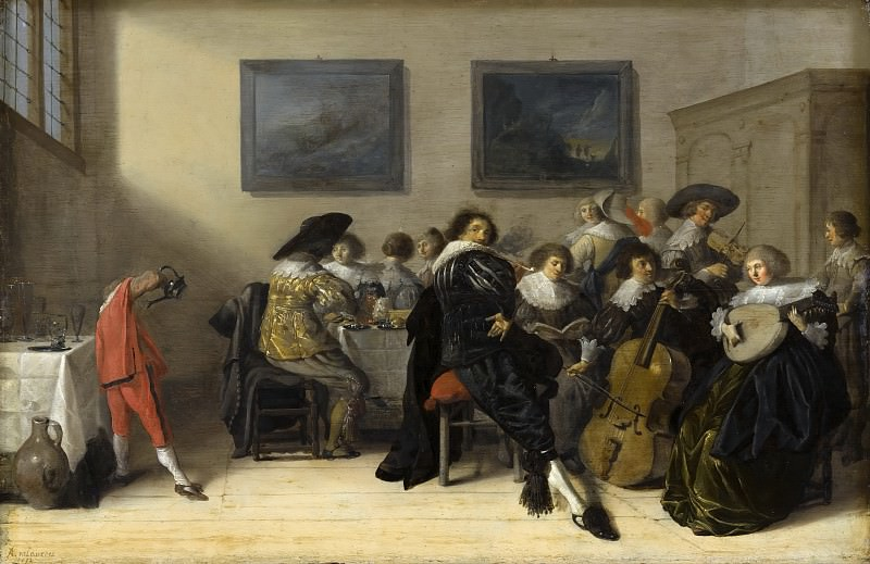 Anthonie Palamedesz - Merry Company Dining and Making Music. Mauritshuis