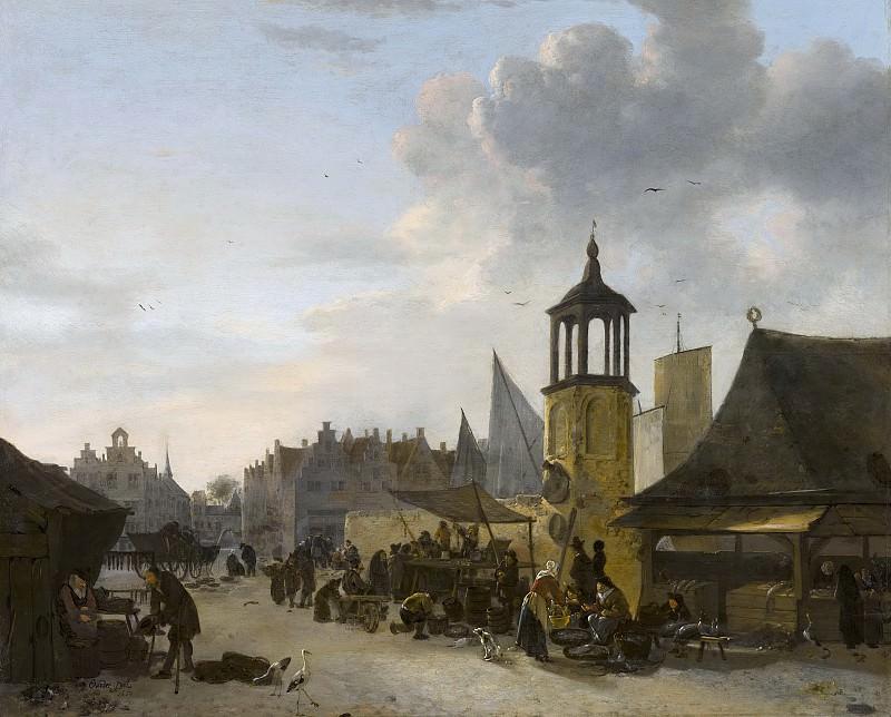 Egbert van der Poel - A Fish Market. Mauritshuis