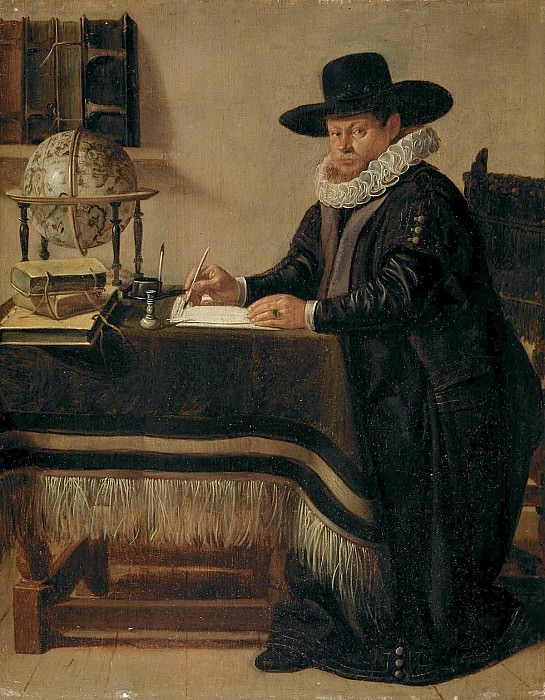 Jan Olis - Portrait of Johan van Beverwijck (1594-1647) in his Study. Mauritshuis
