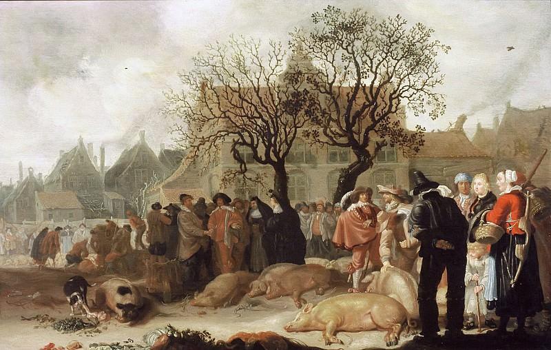 Sybrand van Beest - Hog Market. Mauritshuis