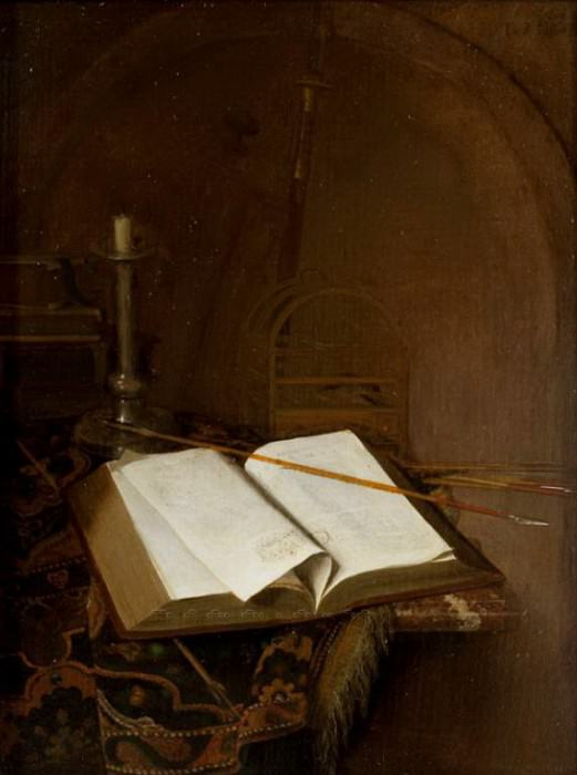 Jan van der Heyden - Still Life with a Bible. Mauritshuis